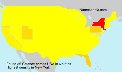 Surname Safanov in USA