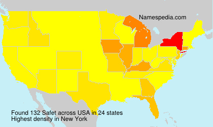 Surname Safet in USA