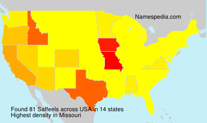 Surname Saffeels in USA
