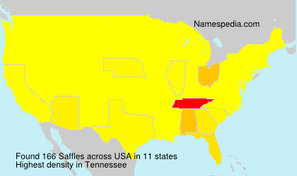 Surname Saffles in USA