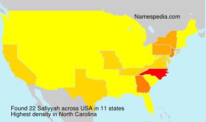 Surname Safiyyah in USA