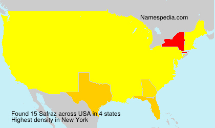 Familiennamen Safraz - USA