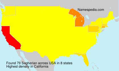 Surname Sagherian in USA