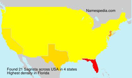 Surname Sagrista in USA