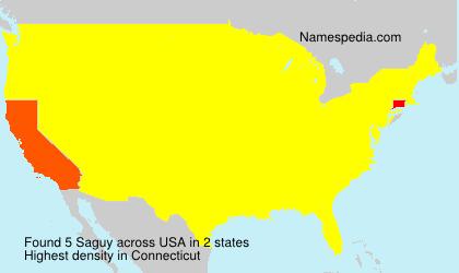 Surname Saguy in USA