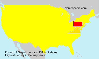 Surname Sagwitz in USA