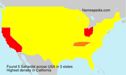 Surname Sahardid in USA