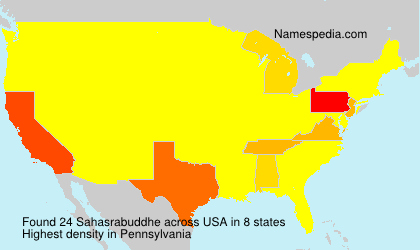 Familiennamen Sahasrabuddhe - USA