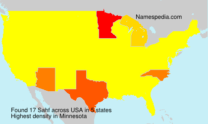 Surname Sahf in USA