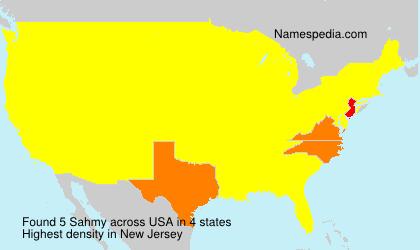 Surname Sahmy in USA