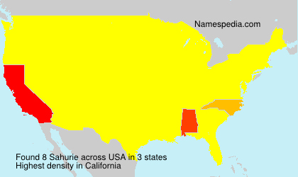 Surname Sahurie in USA