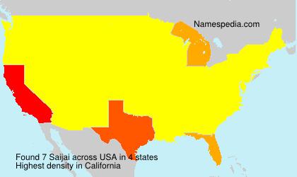 Familiennamen Saijai - USA