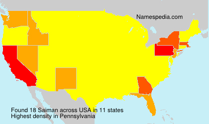 Surname Saiman in USA