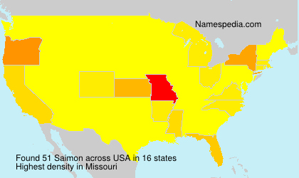 Surname Saimon in USA