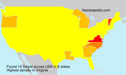 Surname Saiyid in USA