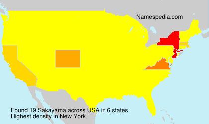 Surname Sakayama in USA