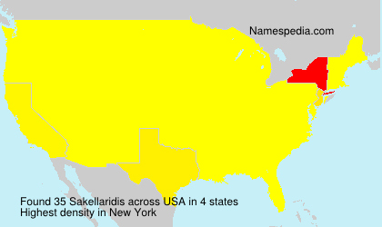 Surname Sakellaridis in USA