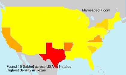 Familiennamen Sakhel - USA