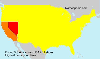 Surname Sakio in USA