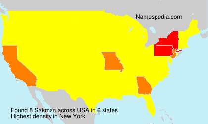 Surname Sakman in USA