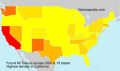 Surname Sakura in USA