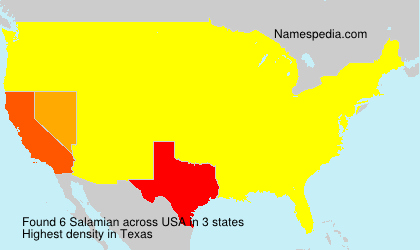Surname Salamian in USA