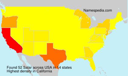 Surname Salar in USA