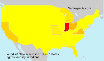 Familiennamen Salatin - USA