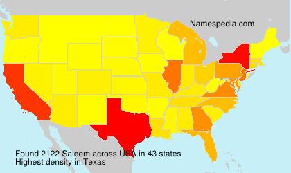 Surname Saleem in USA