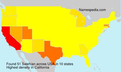 Surname Salehian in USA