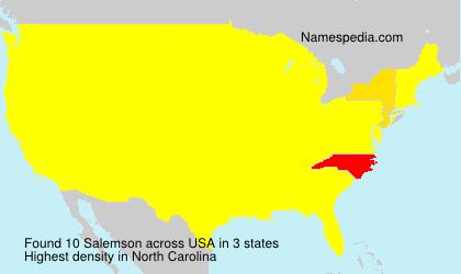 Surname Salemson in USA