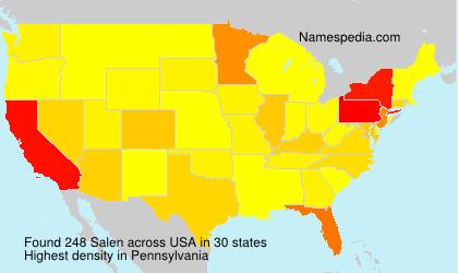 Surname Salen in USA