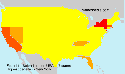 Surname Salend in USA
