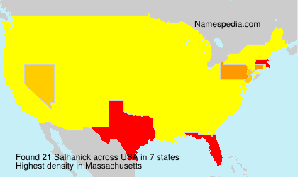 Surname Salhanick in USA