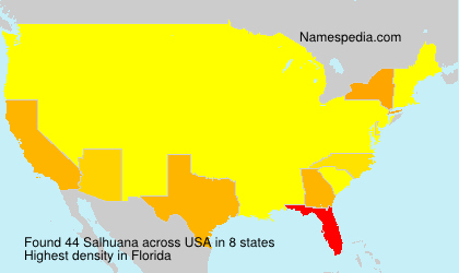 Surname Salhuana in USA