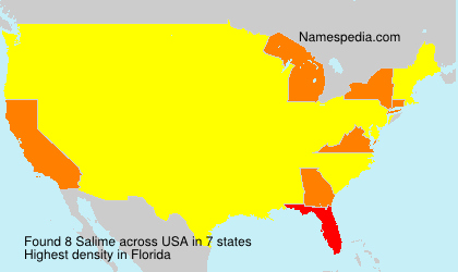 Surname Salime in USA