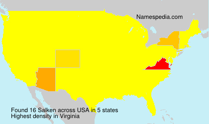 Surname Salken in USA