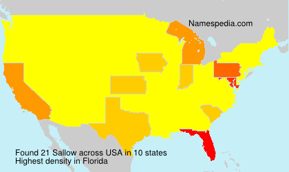 Surname Sallow in USA