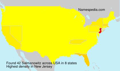 Surname Salmanowitz in USA