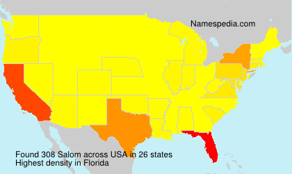 Surname Salom in USA