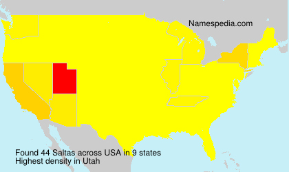 Surname Saltas in USA
