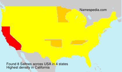 Surname Saltnes in USA