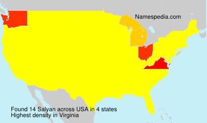 Surname Salyan in USA