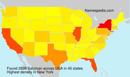 Familiennamen Salzman - USA