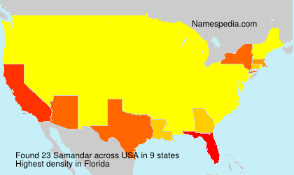 Surname Samandar in USA