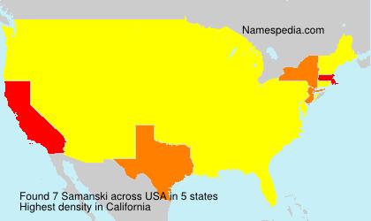 Surname Samanski in USA