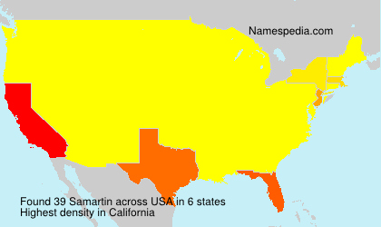 Surname Samartin in USA