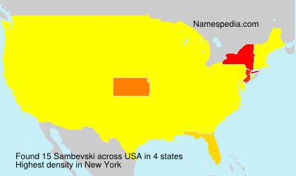 Surname Sambevski in USA