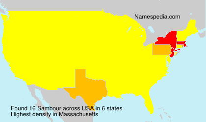 Surname Sambour in USA