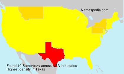 Surname Sambrosky in USA